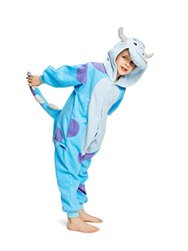 Sully Costume For Kids (NEWCOSPLAY Kids Plush One Piece Cosplay Onesies Costume (115,)