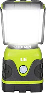 LE LED Camping Lantern, Battery Powered LED with 1000LM, 4 Light Modes, Waterproof Tent Light, Perfect Lantern