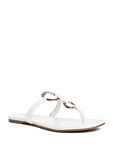 GUESS Factory Women's Brecken Patent Sandals (Patent Leather Sandals Guess)