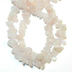 NG1341 Rose Quartz Medium 8mm Nugget Chip Gemstone Beads 36