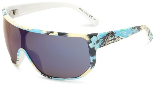 VonZipper Bionical Limited Oversized Sunglasses,Gnarr-waiian & Blue,One - Case Zipper Von Sunglass