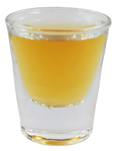 Sunrise Classic 1 oz Whiskey/Vodka/Tequila/Shot Glass, with Heavy Base, Clear Glass. (12)]()
