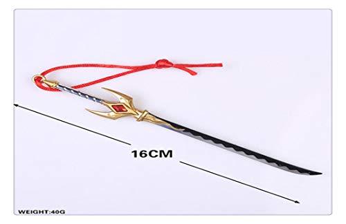 YshengHu Accessories Anime Cosplay Costume Keyring Pendant 16CM Metal Necklace Game Model Keychains YshengHu-2529