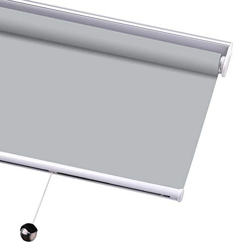 PASSENGER PIGEON Blackout Window Shades, Premium Free-Stop Cordless UV Protection Custom Roller Blinds,72 W x 92 L,Light Grey