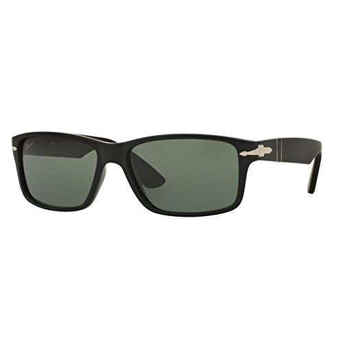 Persol Mens Sunglasses (PO3154) Black Matte/Green Plastic - Polarized - - Matte Persol Black Sunglasses