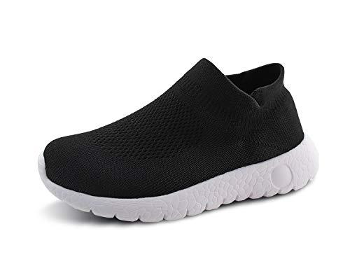 Jabasic Kids Walking Shoes Boys Girls Breathable Slip On Knit Sock Sneakers - Socks Boys Sneaker