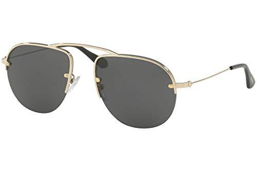 Prada PR58OS Teddy Sunglasses Pale Gold w/Grey 55mm Lens ZVN5S0 SPR58O PR 58OS SPR ()