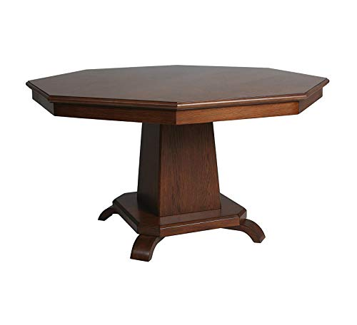 Wood & Style Furniture Vargas Game Table, Octagon Home Office Commerial Heavy Duty Strong Décor
