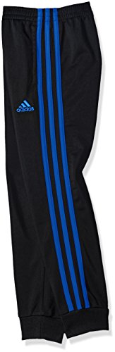 Large Product Image of adidas Big Boys' Youth Iconic Tricot Jogger, Black/Blue, Small