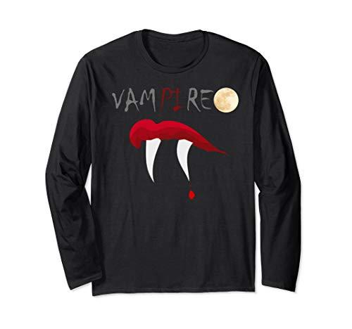 Scary Halloween Math Teacher Science Geek Vampire Pi Pun Long Sleeve T-Shirt]()
