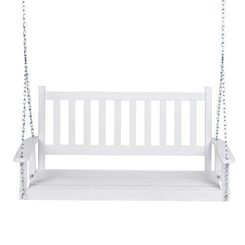 Shine Company 4216WT Maine Porch Swing, - Swing White Porch