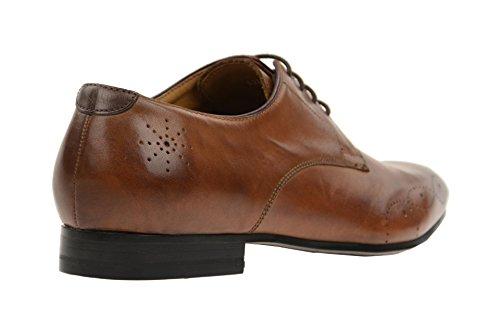 Gordon & Bros Zapatos de Cordones de Piel Para Hombre, Color Negro, Talla 45