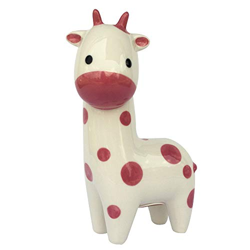Applesauce Baby Ceramic Piggy Bank, Pink, Giraffe