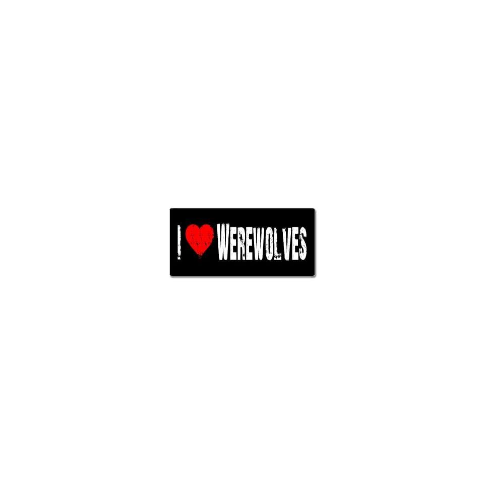 I Love Heart Werewolves   Window Bumper Sticker