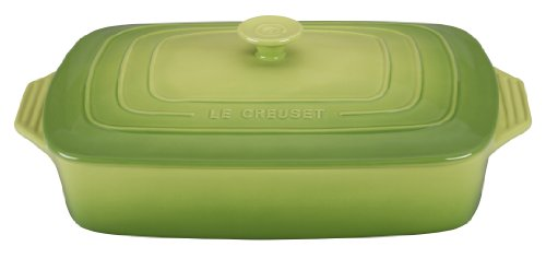 Le Creuset Stoneware Covered Rectangular Casserole, 12.5 by 8.5-Inch, (Le Creuset Lasagna)