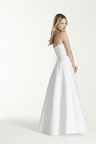 Satin A-line Wedding Dress with Asymmetrical