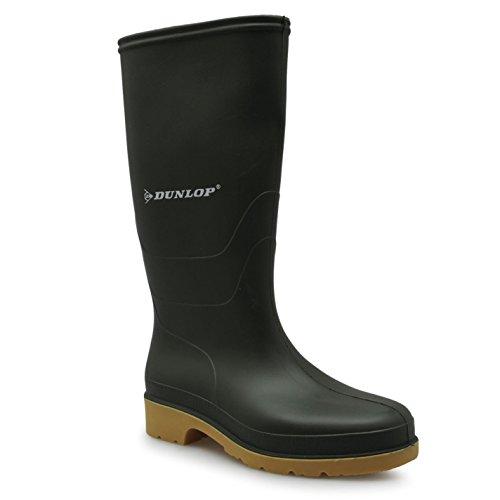 Dunlop Womens Wellington Ladies Waterproof Boots Rain Wellies Green
