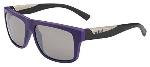 Bolle Clint Adult Sport Sunglasses, Matte Purple/Black/TNS Gun, Large