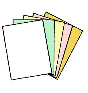 NCR Superior 5-Part Reverse 8.5''x11'' (100 Sets per Ream) - Gold/Pink/Canary/Green/White. (5 Sheets per Set). NCR 5930/1942 (1) by Limited Papers®