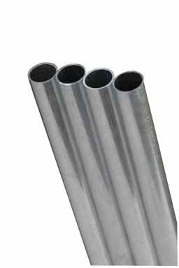 K&S Precision Metals 83062 Round Aluminum Tube, 5/16