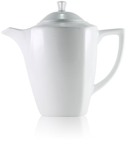 Aidas 55 oz Large White Modern Ceramic Teapot for Hot Drinks and Other Beverages, 1 unit