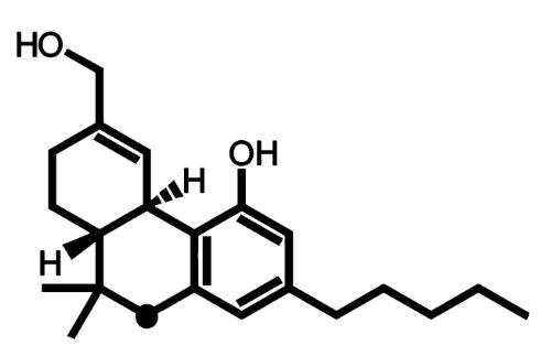 THC Molecule Sticker (Black) - Molecule Sticker