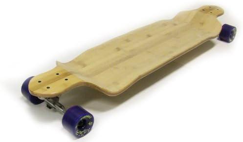 Longboard de bambú TGM Skateboards abajo gota – Randal 180 mm camiones rodamientos ABEC 7 cojinetes, 76 mm 84 A ruedas