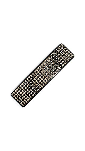 Marc Jacobs Women's Resin Strass Barrette, Chocolate, Brown, Metallic, One Size