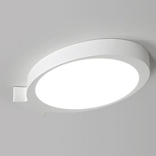 FXING Moderne Kunst Fisch LED-Deckenleuchte, Kreative Schlafzimmer Lampen warme Romantische Deckenlampe Kinderzimmer Leuchten (Farbe  weiß, Größe  warmes Licht - 40  25 cm)