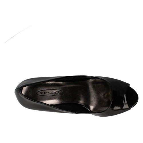 Spot On Ladies Peeptoe Court Heels Black ePRLul2J