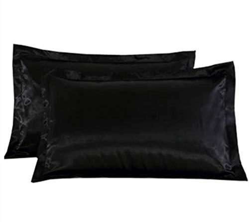 2pcs Queen Size 100% Silky Satin Pillowcase Pillow Cover