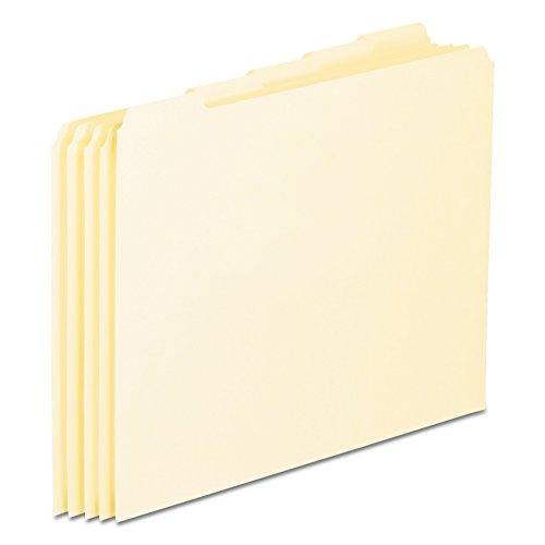 Pendaflex PFXEN205 Blank Tab File Guides, 18 pt. Manila, 1/5 Cut, Letter Size, 100/box