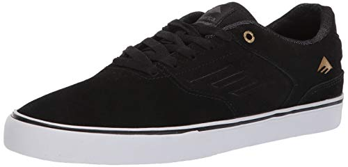 Emerica Men's The Reynolds Low Vulc Skate Shoe, Black/Gold/White, 6.0 Medium US