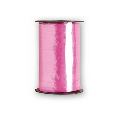 BALLOON WEIGHTS - RIBBON HOT PINK 500 YARDS #10511, CASE OF 48 by DollarItemDirect