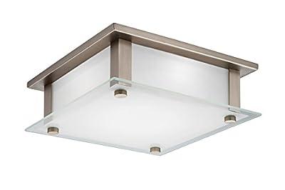 "Lithonia Lighting FMRAOL 10 14840 BN M4 LED Flush Mount Light, Nickel, 10"""