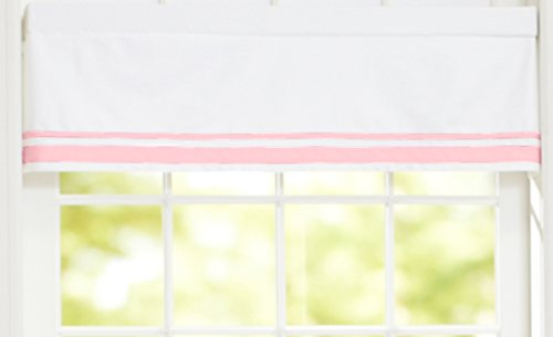 - Just Born Window Valance, Pink/White