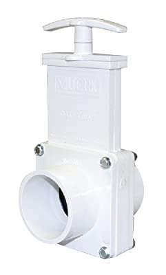 "Valterra 6203 PVC Gate Valve, White, 2"" Spig by Valterra Products"