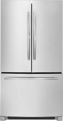 Frigidaire FDBG2250SS 36' Counter Depth French Door Bottom Mount Refrigerator with 22.4 Cu. Ft. Capacity Flush LED Lighting Clear Door Bins and 4 Spill Safe Shelves: Stainless