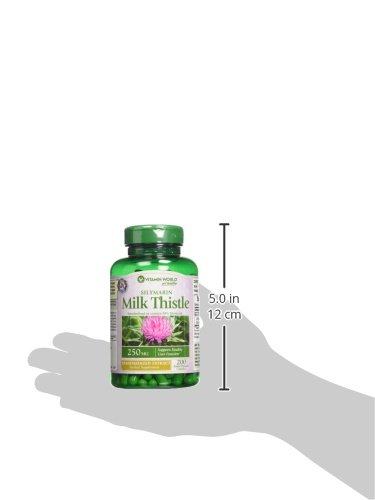 Vitamin World Milk Thistle Silymarin Standardized Extract, 200 Count