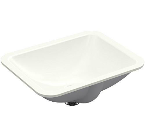 KOHLER K-20000-NY Caxton Rectangle 20-5/16 x 15-3/4 In. Undermount Bathroom Sink, (Dune Console)