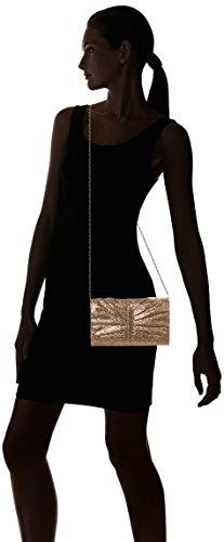 SwankySwansSerafina Shimmer Glitter Clutch Bag Gold - Sacchetto donna Gold (Gold)