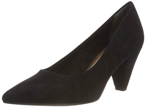 Escarpins 4 Tamaris 21 Suede Noir 22412 black Femme qxqE0Ovn4