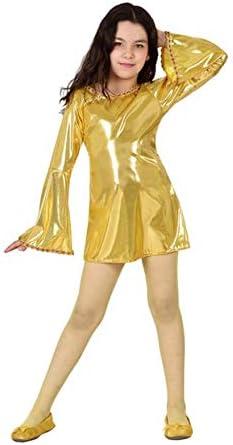 Atosa Disfraz de Disco Dorado Brillante para niña: Amazon.es ...