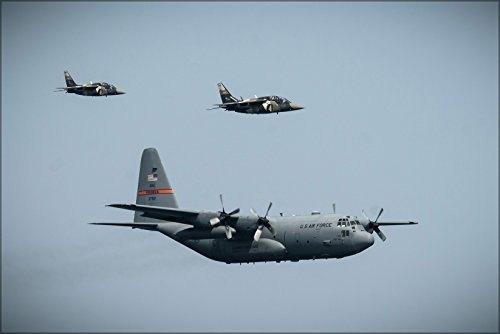 24x36 Poster . C-130 Hercules 182Nd Airlift Wing, Canadian Alpha Jets