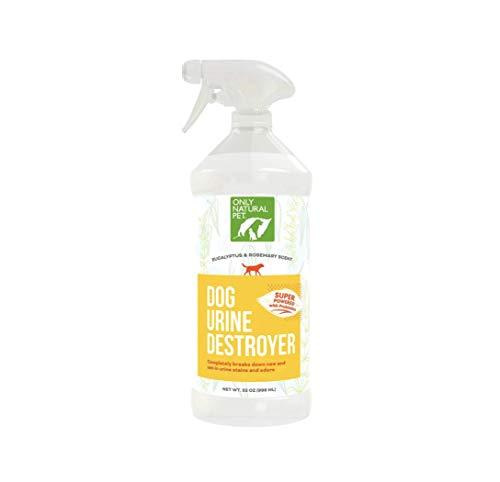 Only Natural Pet Dog Urine Stain & Odor Destroyer Probiotic Spray for Dogs – All-Natural Enzyme Cleaner, Pet Stain Remover & Odor Eliminator – 32 Fl Oz