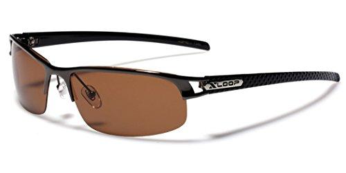 Small POLARIZED Half Frame Fishing Golf Sport Sunglasses - Gray & - Cheap Polarised Sunglasses