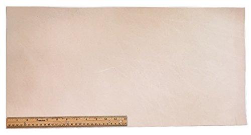 Tooling Leather Natural Topgrain Veg Tan Light Weight 3-4 oz, 12