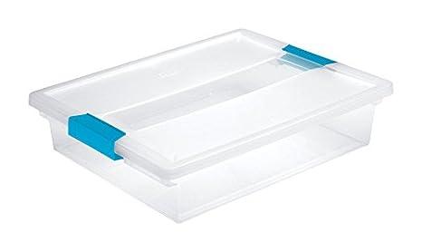 Amazon.com: Sterilite - Caja grande con pinzas, transparente ...