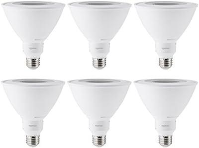 AmazonBasics 90 Watt Equivalent, Dimmable, PAR38 LED Light Bulb