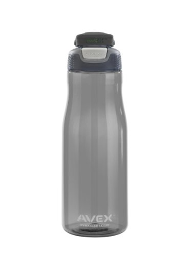AVEX Wells Water Bottle, Charcoal, 32-Ounce